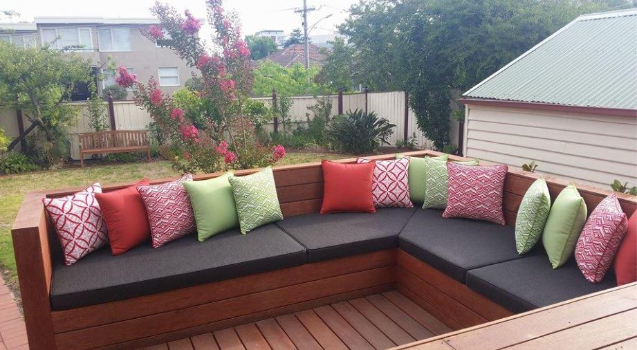 Gentil I Want To Create A Beautiful Space I Can Use Everyday. Pictured Above A  Fantastic Garden Outdoor Area, Piped Seat Cushions And A Mass Of Scatter  Cushions ...